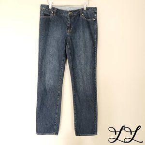 Talbots Jeans Boyfriend Straight Med Wash Cotton